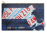Massachusetts License Plate Map Carry-all Pouch