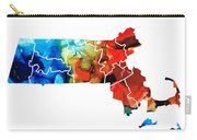 Massachusetts - Map Counties By Sharon Cummings Carry-all Pouch by Sharon Cummings