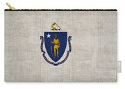 Massachusetts State Flag Carry-all Pouch by Pixel Chimp