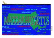 Massachusetts State Pride Map Silhouette  Carry-all Pouch