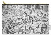 Massacre Of Christian Missionaries Carry-all Pouch by Theodore De Bry