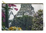 Matterhorn Mountain With Flowers At Disneyland Carry-all Pouch