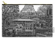 Matterhorn Mountain With Hot Popcorn At Disneyland Bw Carry-all Pouch