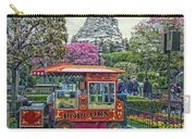 Matterhorn Mountain With Hot Popcorn At Disneyland Textured Sky Carry-all Pouch
