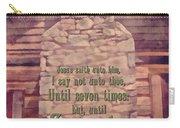 Matthew 18 22 Carry-all Pouch