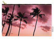 Maui Silhouette Sunset Carry-all Pouch