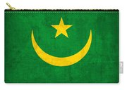 Mauritania Flag Vintage Distressed Finish Carry-all Pouch