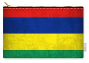 Mauritius Flag Vintage Distressed Finish Carry-all Pouch