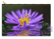 Mauve Softness And Reflections Carry-all Pouch by Kaye Menner