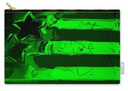 Max Stars And Stripes In Green Carry-all Pouch