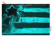 Max Stars And Stripes In Turquois Carry-all Pouch