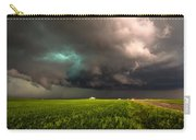 May Thunderstorm - Storm Twists Over House On Colorado Plains Carry-all Pouch