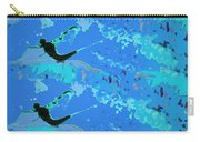 Mayfly Abstract Blue Carry-all Pouch