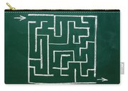 Maze On A Chalkboard Carry-all Pouch