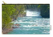 Mcdonald Creek Falls In Glacier Np-mt Carry-all Pouch