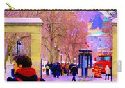 Mcgill Campus Eager Students Enter Roddick Gates Montreal Collectible Art Prints Carole Spandau  Carry-all Pouch