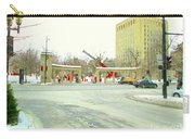 Mcgill University Campus Sherbrooke Street Scene Early Morning Winter Day Montreal Carole Spandau Carry-all Pouch