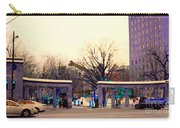 Mcgill University The Night Shift Arrives Sherbrooke Downtown Montreal Scenes Carole Spandau  Carry-all Pouch