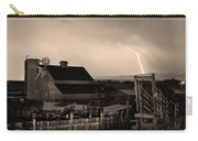 Mcintosh Farm Lightning Sepia Thunderstorm Carry-all Pouch by James BO  Insogna