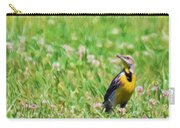 Meadowlark In The Wildflowers Carry-all Pouch