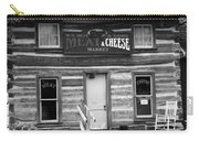 Meat And Cheese Market Black And White Carry-all Pouch