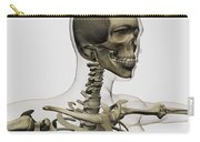 Medical Illustration Of A Womans Skull Carry-all Pouch by Stocktrek Images