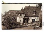 Medieval Cottage In Sarlat Sepia Carry-all Pouch