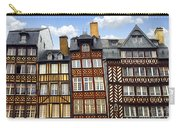 Medieval Houses In Rennes Carry-all Pouch