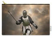 Medieval Knight In Armour On The Attack Carry-all Pouch