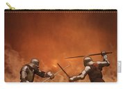 Medieval Knights In Armour Fighting With Swords Carry-all Pouch