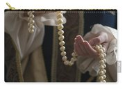 Medieval Or Tudor Woman Holding A Pearl Necklace Carry-all Pouch