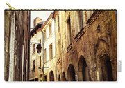 Medieval Street In Perigueux Carry-all Pouch by Elena Elisseeva