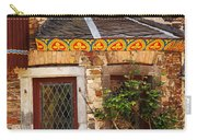 Medieval Window And Rose Bush In Germany Carry-all Pouch
