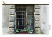 Medieval Window With Iron Grilles Carry-all Pouch