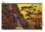 Meditating By A Golden Waterfall Carry-all Pouch