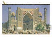 Medrasah Shir-dhor At Registan Place In Samarkand, 1869-70 Oil On Canvas Carry-all Pouch