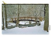 Meeks Park Bridge In Snow Carry-all Pouch