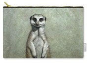 Meerkat Carry-all Pouch by James W Johnson