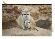 Meerkat Mother And Baby Carry-all Pouch