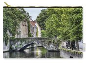 Meestraat Bridge In Bruges Carry-all Pouch