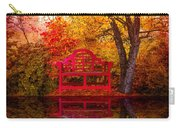 Meet Me At The Pond Carry-all Pouch by Debra and Dave Vanderlaan