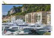 Mega Yachts In Port Of Nice France Carry-all Pouch