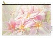 Mele Kalikimaka - Pink Plumeria - Hawaii Carry-all Pouch