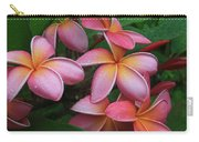 Melia Hae Hawaii Pink Tropical Plumeria Keanae Carry-all Pouch