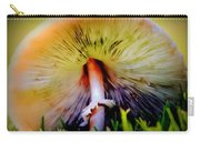 Mellow Yellow Mushroom Carry-all Pouch by Karen Wiles