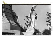 Memorial Statue Children Playing Juarez Chihuahua Mexico 1977 Black And White Carry-all Pouch