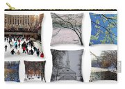 Memories Of Winter - A Collage Carry-all Pouch