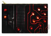 Memory Chip Bwr Carry-all Pouch by Bob Orsillo