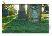 Memphis Elmwood Cemetery - Backlit Grave Stones Carry-all Pouch