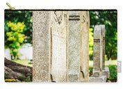 Memphis Elmwood Cemetery Monument - Four In A Row Carry-all Pouch